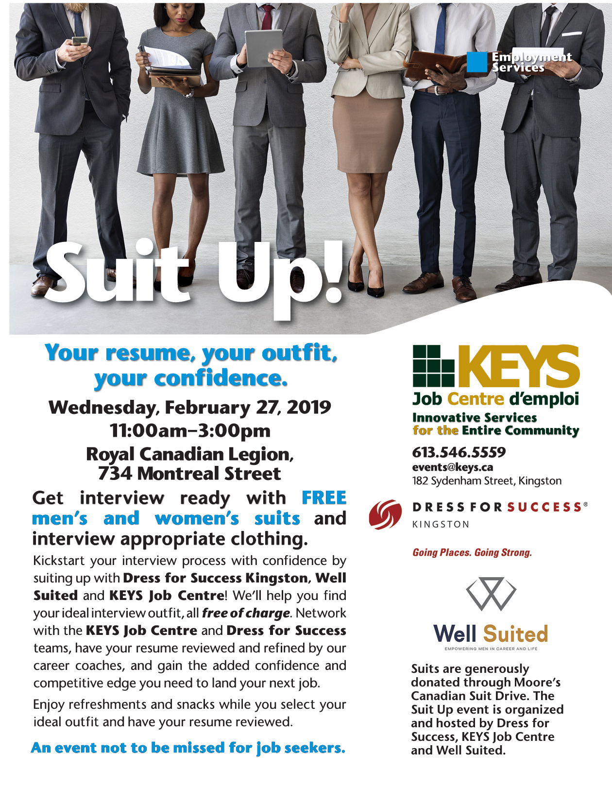 Suit Up 2019 - FREE business clothing